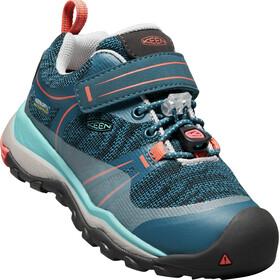 Keen Kids Terradora WP Low Shoes aqua sea/coral